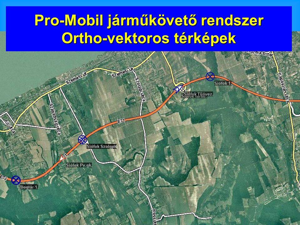 Pro-Mobil járműkövető rendszer Ortho-vektoros térképek