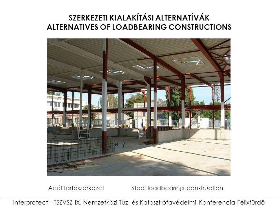 SZERKEZETI KIALAKÍTÁSI ALTERNATÍVÁK ALTERNATIVES OF LOADBEARING CONSTRUCTIONS Interprotect - TSZVSZ IX. Nemzetközi Tűz- és Katasztrófavédelmi Konferen