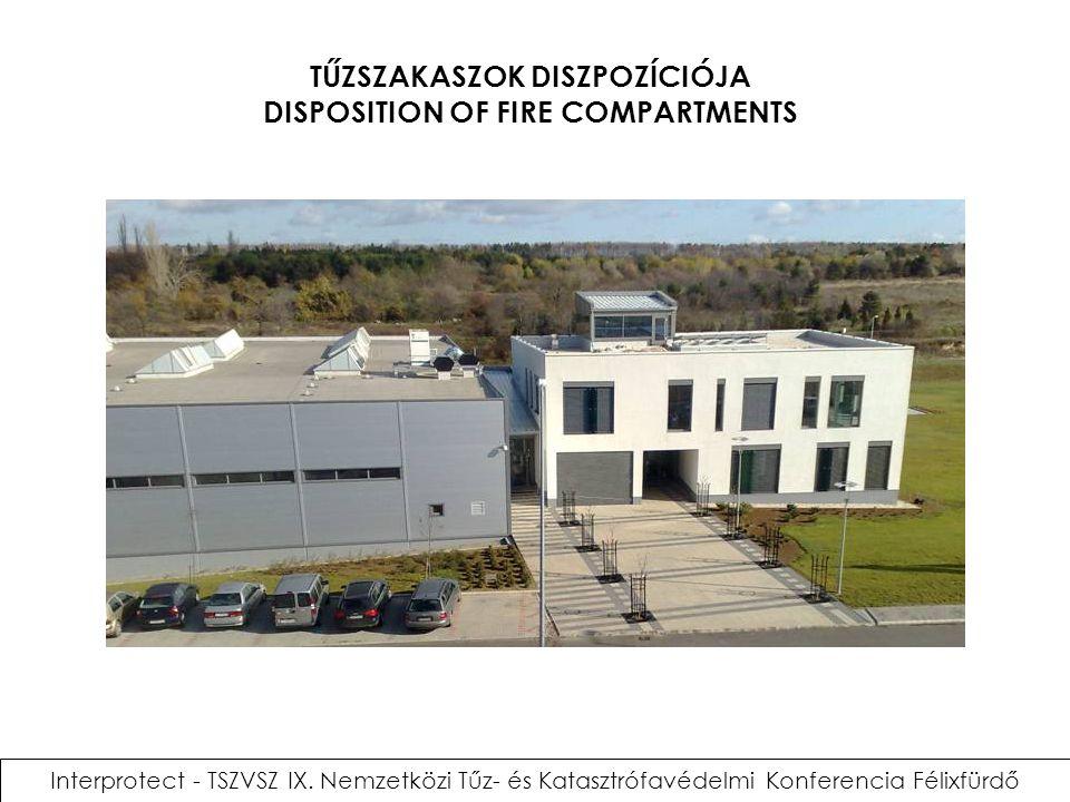 Interprotect - TSZVSZ IX. Nemzetközi Tűz- és Katasztrófavédelmi Konferencia Félixfürdő TŰZSZAKASZOK DISZPOZÍCIÓJA DISPOSITION OF FIRE COMPARTMENTS