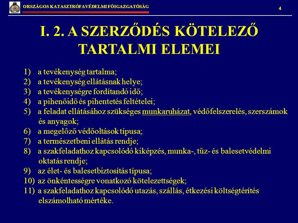 5 ORSZÁGOS KATASZTRÓFAVÉDELMI FŐIGAZGATÓSÁG I.3.