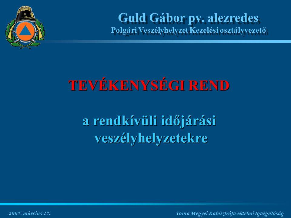 Tolna Megyei Katasztrófavédelmi Igazgatóság Guld Gábor pv.
