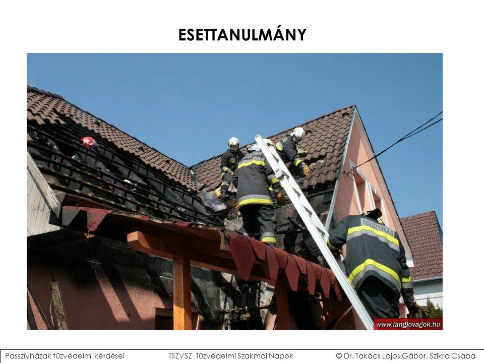 ESETTANULMÁNY Passzívházak tűzvédelmi kérdései TSZVSZ Tűzvédelmi Szakmai Napok © Dr.