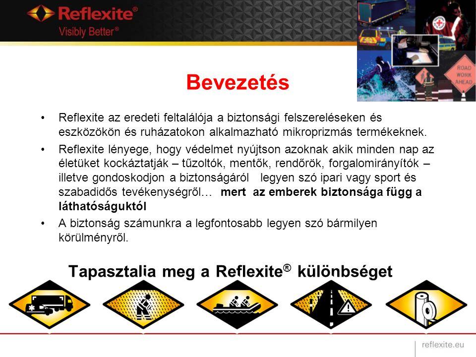 Bevezetés Reflexite az eredeti feltalálója a biztonsági felszereléseken és eszközökön és ruházatokon alkalmazható mikroprizmás termékeknek. Reflexite