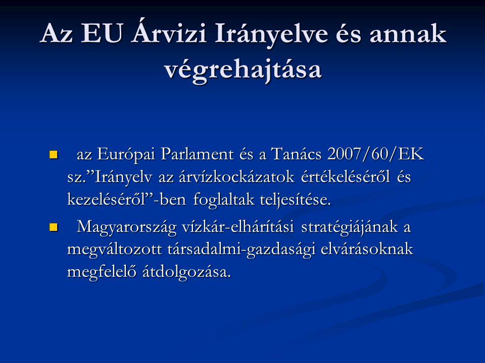 """az Európai Parlament és a Tanács 2007/60/EK sz.""""Irányelv az árvízkockázatok értékeléséről és kezeléséről""""-ben foglaltak teljesítése. az Európai Parlam"""
