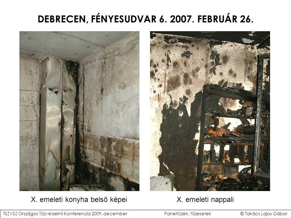 DEBRECEN, FÉNYESUDVAR 6.2007. FEBRUÁR 26. X. emeleti konyha belső képeiX.