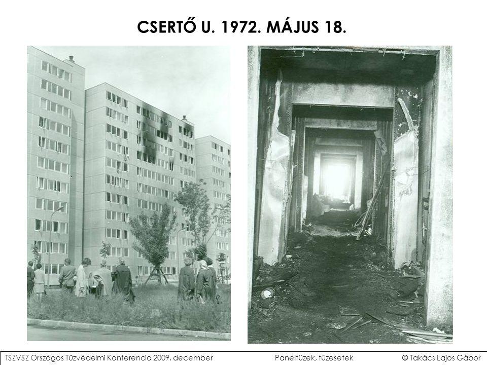 CSERTŐ U.1972. MÁJUS 18. TSZVSZ Országos Tűzvédelmi Konferencia 2009.