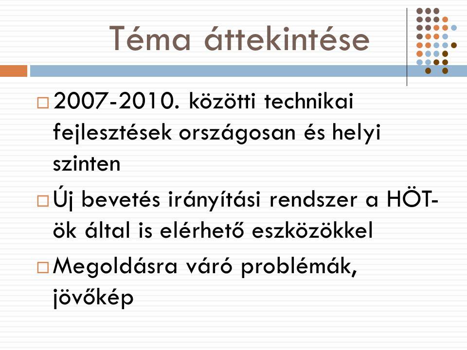 Téma áttekintése  2007-2010.