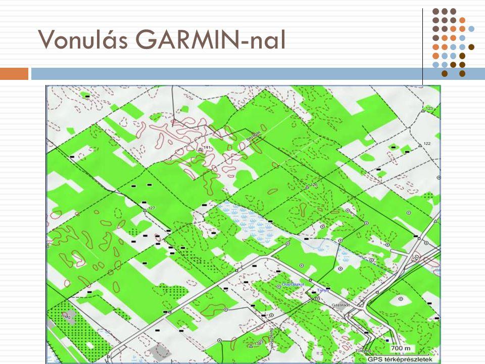 Vonulás GARMIN-nal