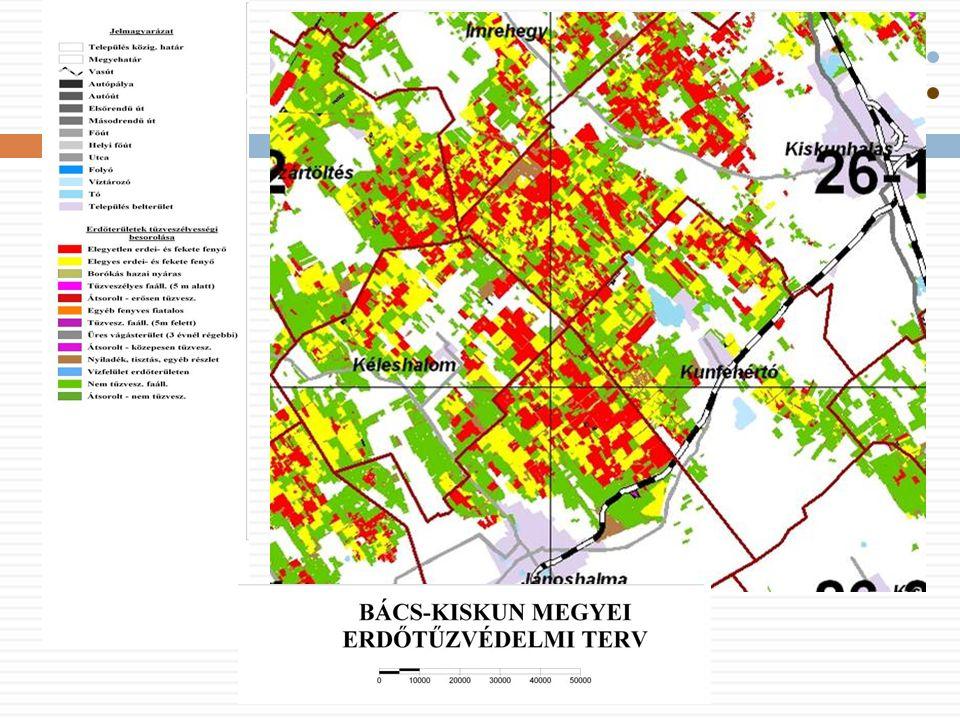 Az erdőtüzek megelőzése  Angström-féle gyulladási index  ún.