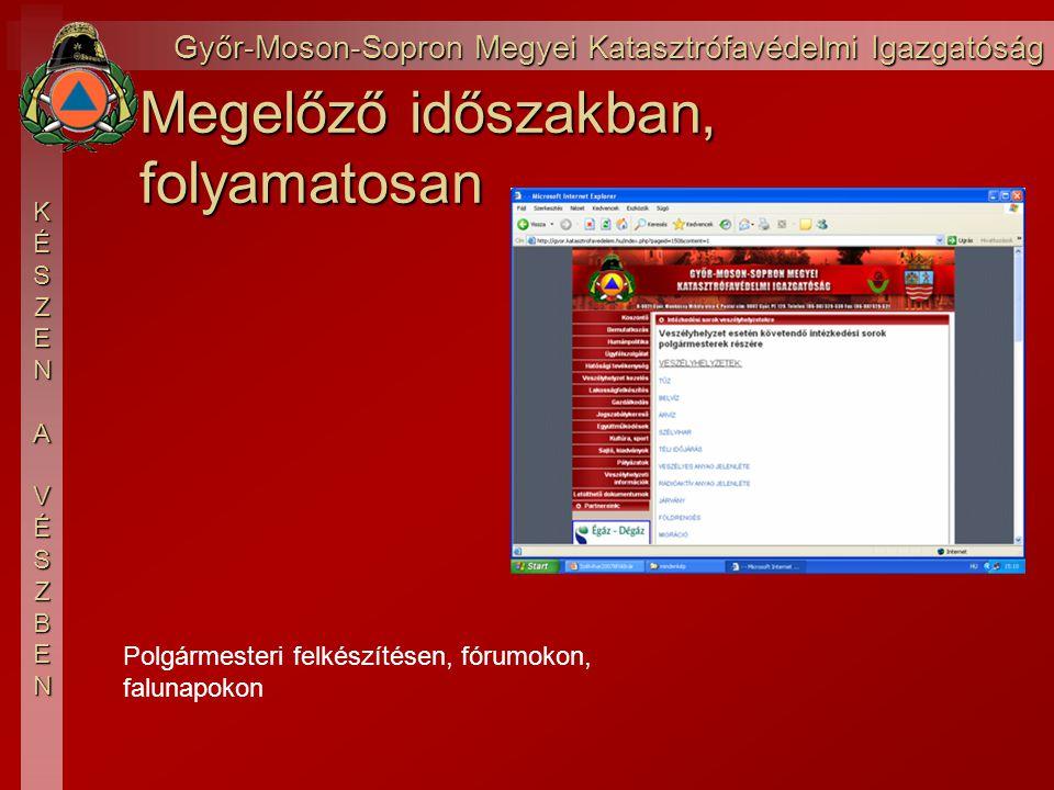 Győr-Moson-Sopron Megyei Katasztrófavédelmi Igazgatóság KÉSZEN AVÉSZBEN Esemény után, kárfelmérés, vis maior