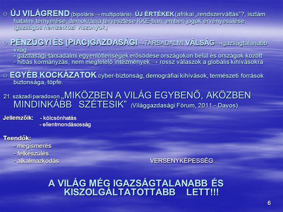 7 BIZTONSÁGI KOCKÁZATOK - Európai Biztonsági Stratégia – 2003.