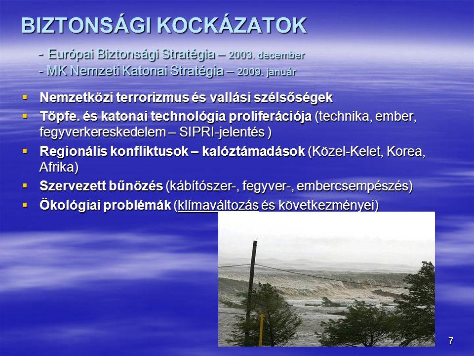 """8 ■ Ipari és természeti katasztrófák (atomerőművek, iszaptározók, gátak, földcsuszamlások) ■ Globális problémák (népesedés, élelmiszer- és ivóvíz-válság, migráció) ■ Energiaválság (Oroszország – Európa – VILÁG) ■ Kritikus infrastruktúrák elleni támadások (közellátás, informatikai (ipari) rendszerek ellen – Észtország, Grúzia, Egyesült Államok, Irán) ■ Járványok és egészségügyi problémák ■ Globális pénzügyi és gazdasági rendszer (fenntartható fejlődés) = KONFLIKTUS- ÉS KATASZTRÓFAFORRÁSOK """"A természetnek nem gazdái, hanem vendégei vagyunk (M."""