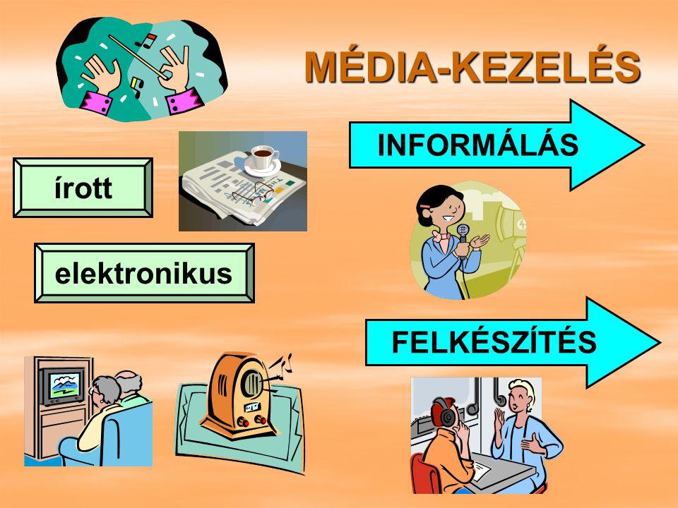MÉDIA  mondanivaló kifejezésére használatos közvetítő közegek összessége  a mondanivaló kifejezésére használt fórumok  a rádiózás és televíziózás műsorszolgáltatásainak összessége