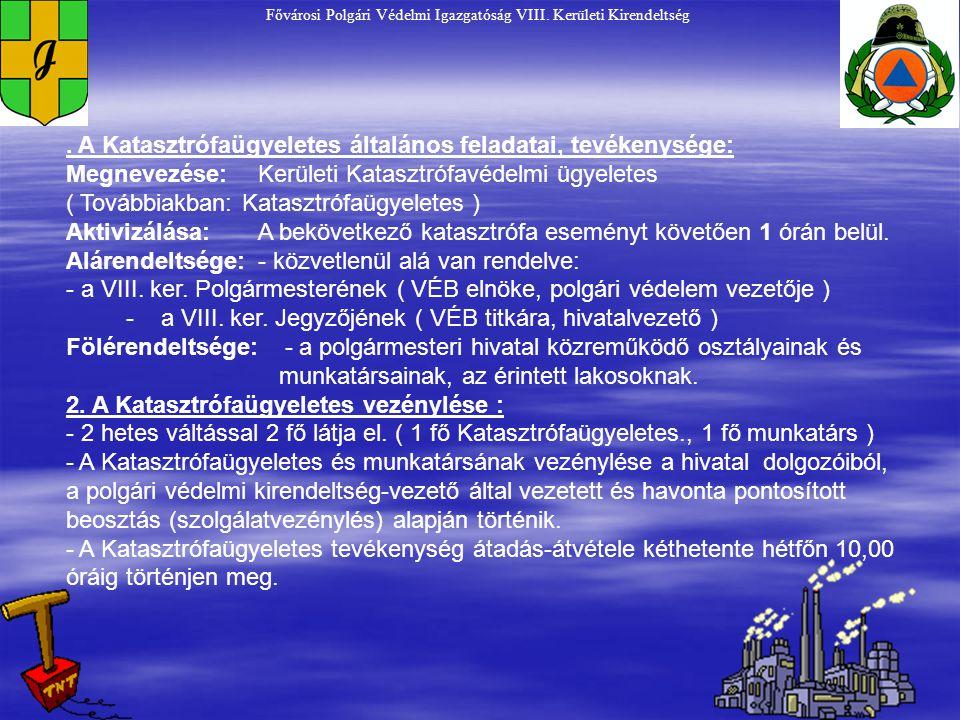 Fővárosi Polgári Védelmi Igazgatóság VIII.Kerületi Kirendeltség I.