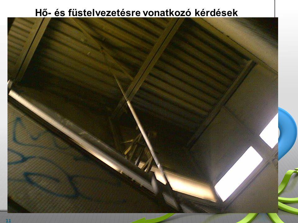 11 A meglévő hő- és füstelvezető rendszer ismertetése: A lépcsőház legnagyobb területet kiadó szintjének alapterülete:……. m 2 A lépcsőházi bejárat ter