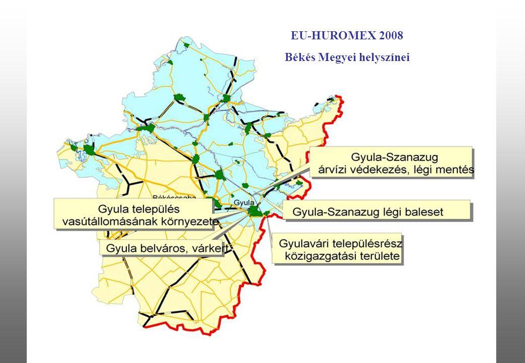9 EU-HUROMEX 2008 Békés Megyei helyszínei