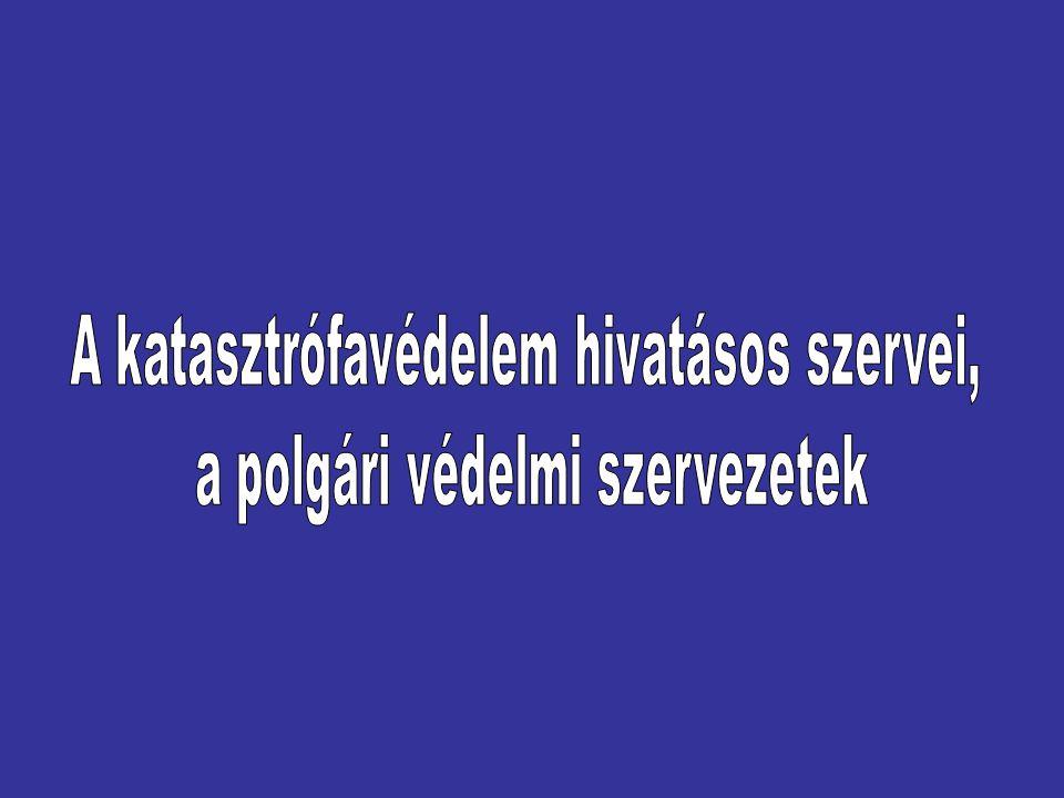 A POLGÁRI VÉDELEM Jogszabályi háttér 1996.évi XXXVII.