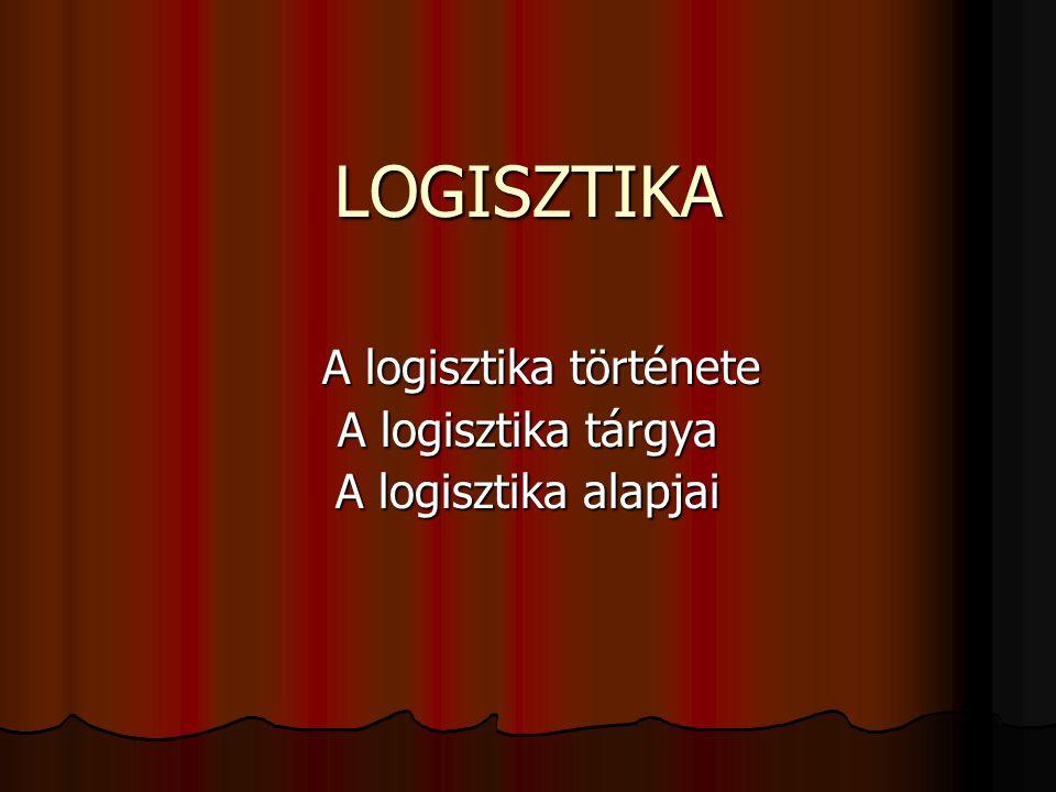 """A logisztika története  """"Őskor  Jomini tábornok  II. Világháború  Napjaink"""