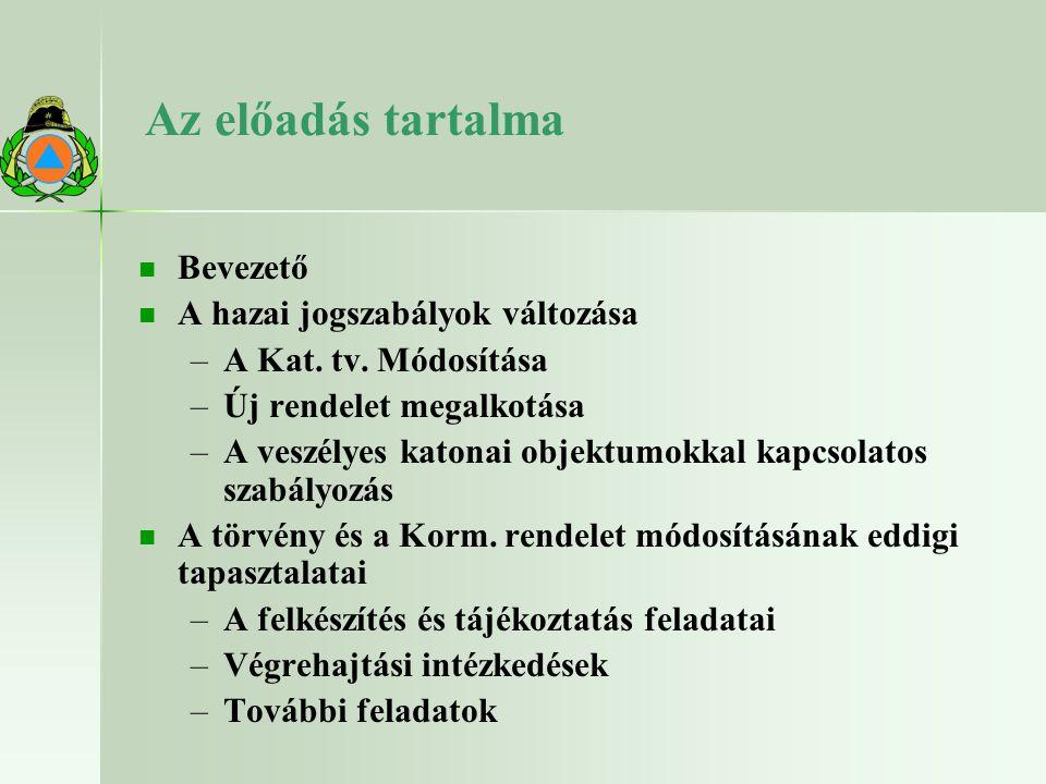 Az irányelv-módosítás főbb tárgykörei 1.