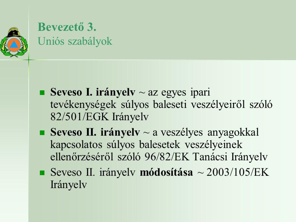 Bevezető 4.Az Irányelv módosítása. 2000. május 13.