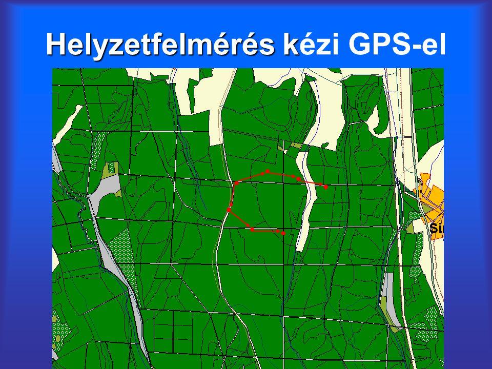 Helyzetfelmérés k Helyzetfelmérés kézi GPS-el