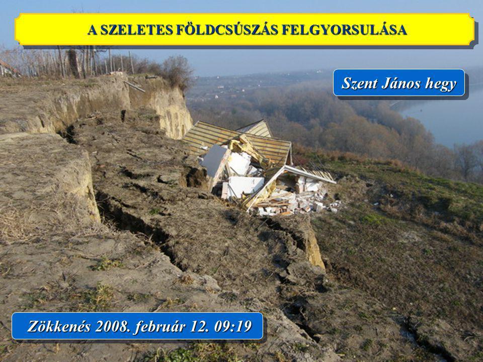 14 Zökkenés 2008. február 12. 09:19 Szent János hegy A SZELETES FÖLDCSÚSZÁS FELGYORSULÁSA