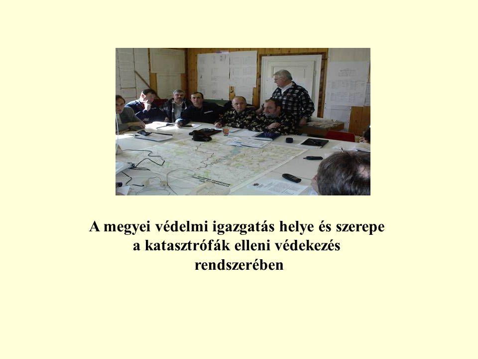 A megyei védelmi igazgatás helye és szerepe a katasztrófák elleni védekezés rendszerében
