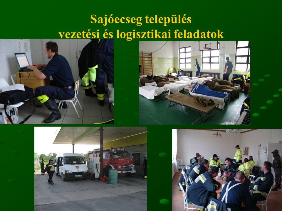 16 Sajóecseg település vezetési és logisztikai feladatok