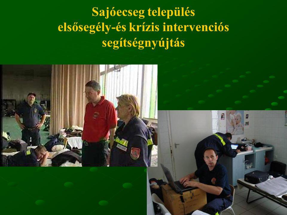 17 Sajóecseg település elsősegély-és krízis intervenciós segítségnyújtás
