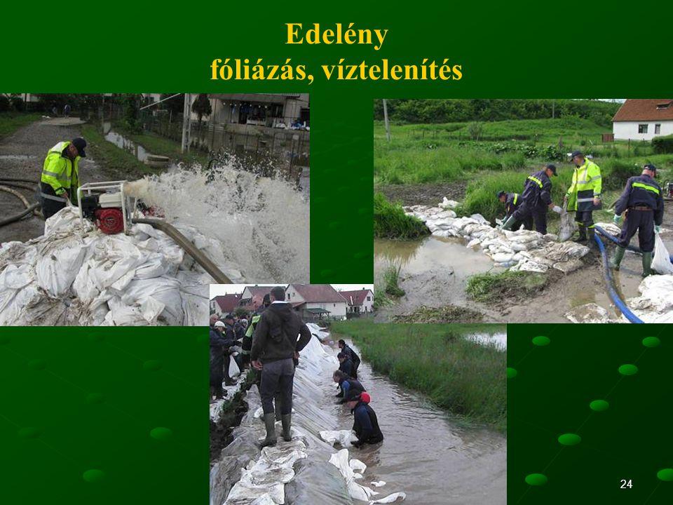 24 Edelény fóliázás, víztelenítés