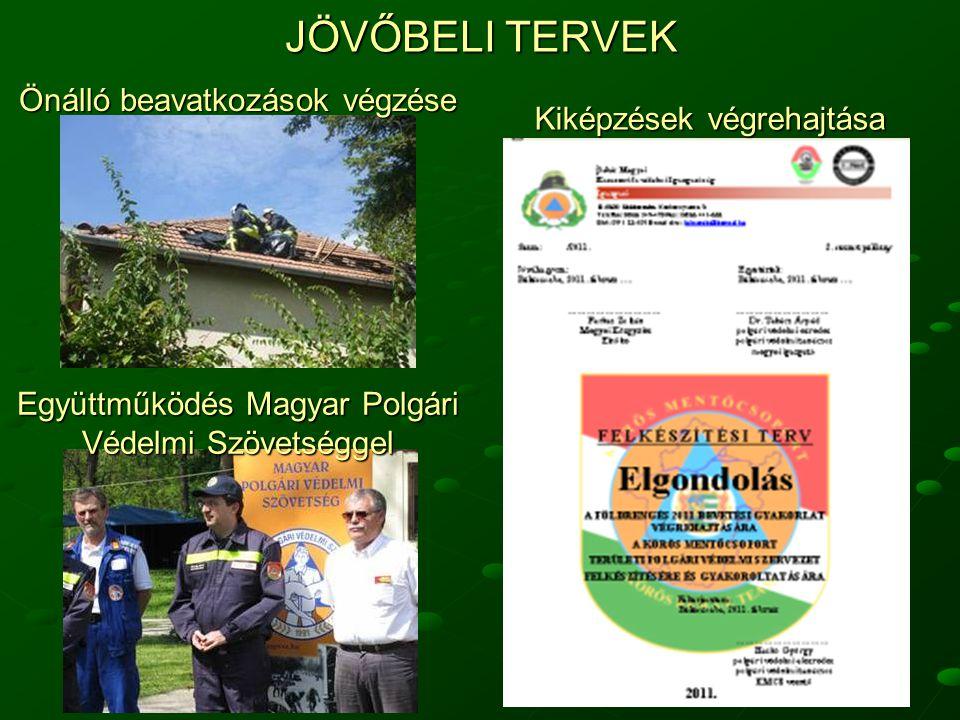 28 JÖVŐBELI TERVEK Önálló beavatkozások végzése Kiképzések végrehajtása Együttműködés Magyar Polgári Védelmi Szövetséggel
