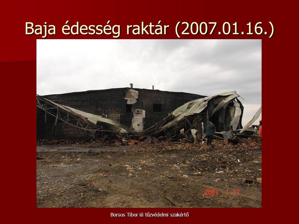 Borsos Tibor iü tűzvédelmi szakértő Baja édesség raktár (2007.01.16.)