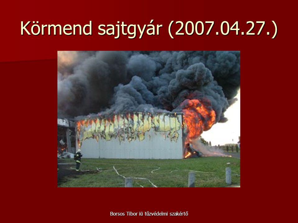 Borsos Tibor iü tűzvédelmi szakértő Körmend sajtgyár (2007.04.27.)