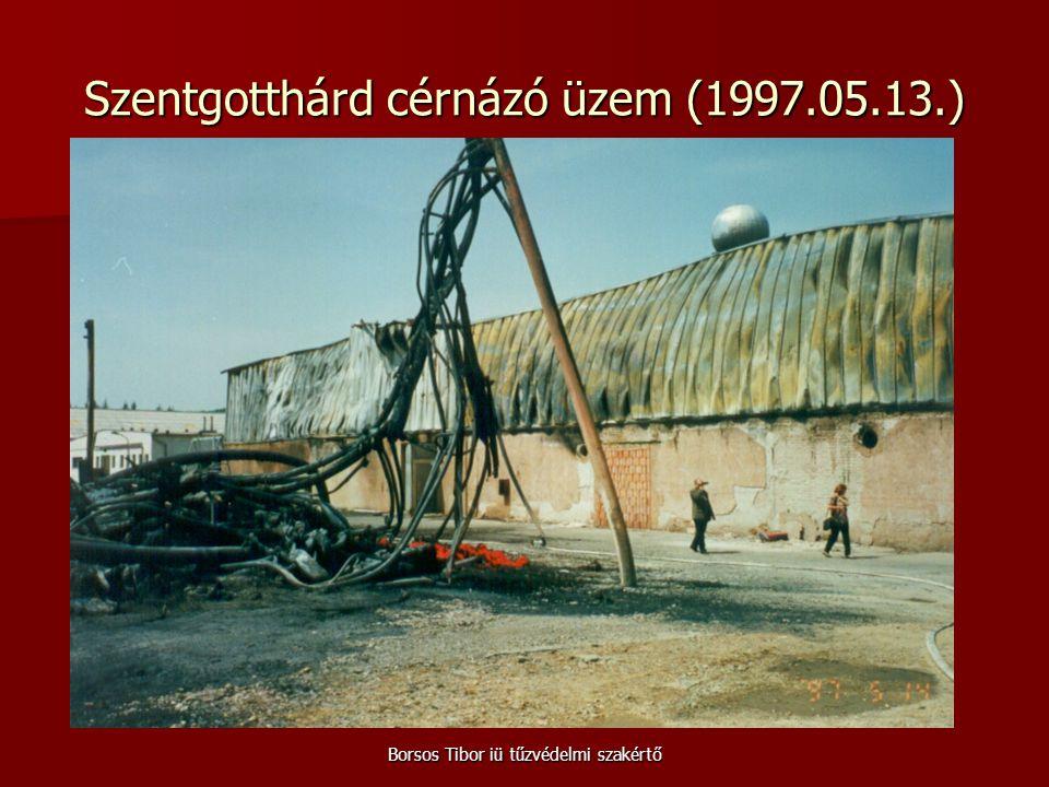 Borsos Tibor iü tűzvédelmi szakértő Szentgotthárd cérnázó üzem (1997.05.13.)