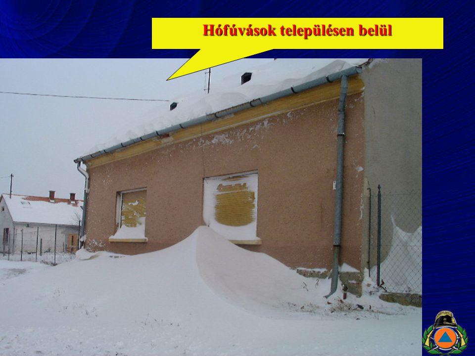 Hófúvások településen belül