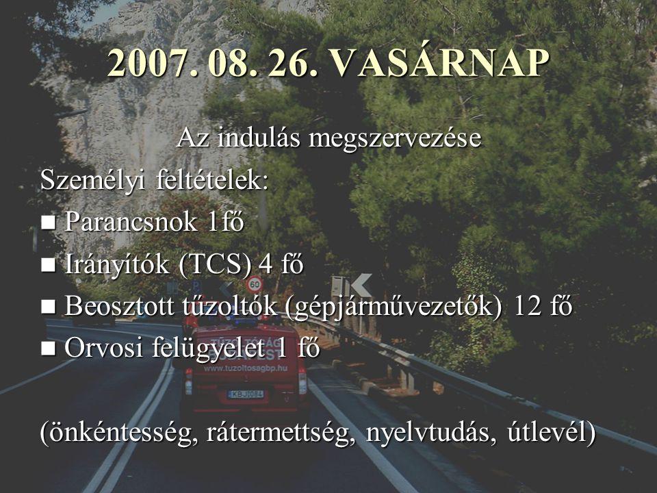 Hazaindulás 08. 31-én (péntek) Zeta Halkidai Tűzoltóság