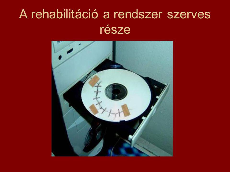 A rehabilitáció a rendszer szerves része