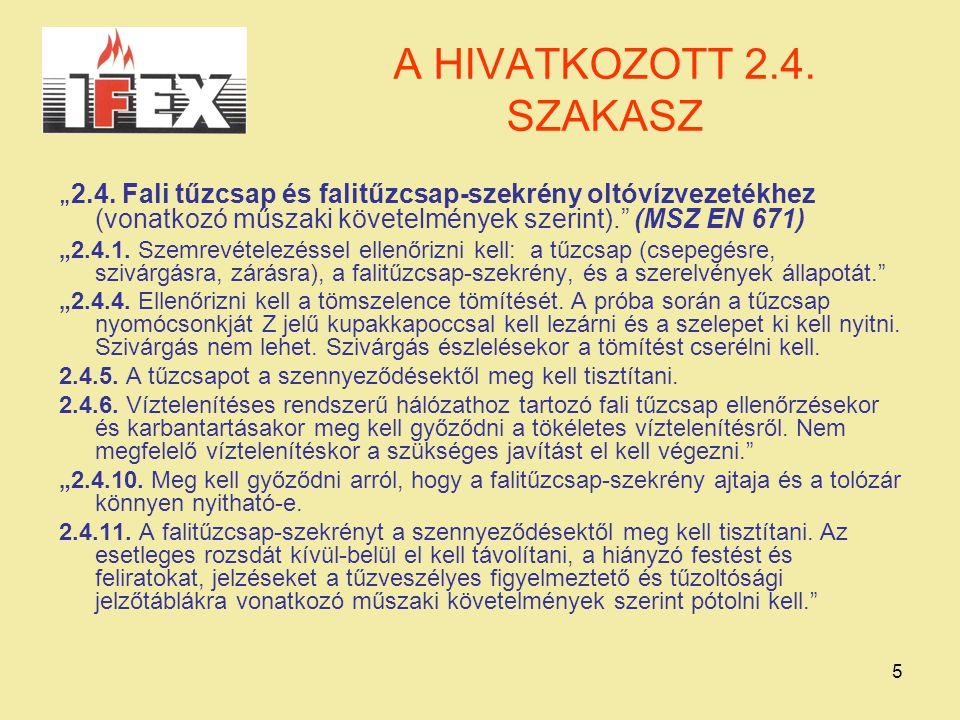 """5 A HIVATKOZOTT 2.4.SZAKASZ """" 2.4."""