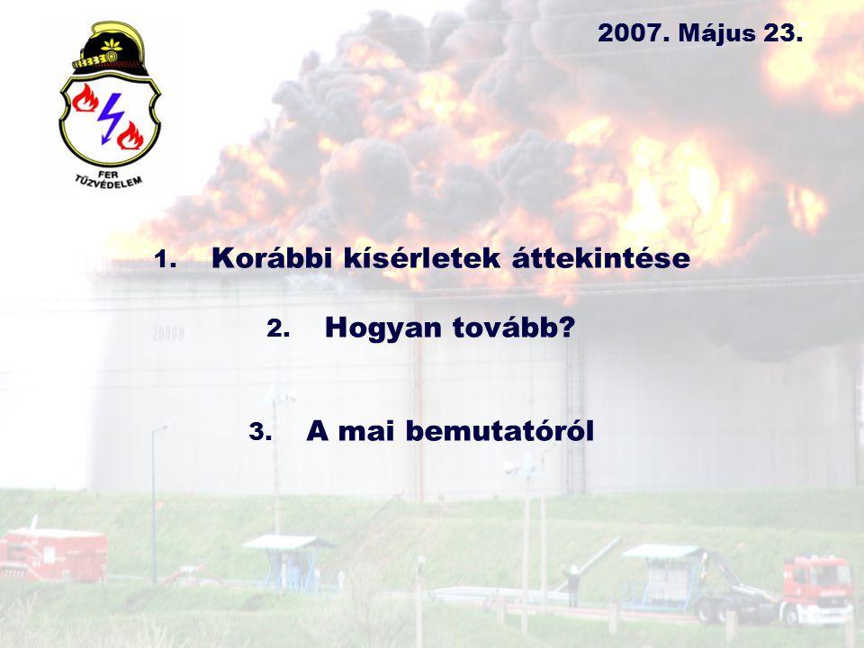 1.Kísérletek – FER Tűzoltóság 1.