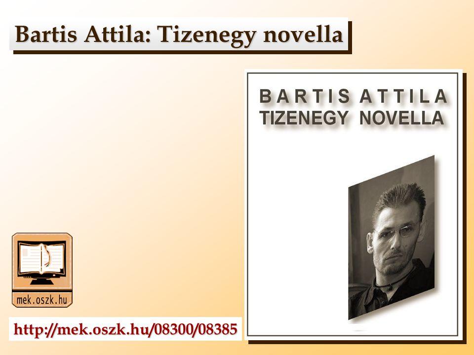Bartis Attila: Tizenegy novella Bartis Attila: Tizenegy novella http://mek.oszk.hu/08300/08385