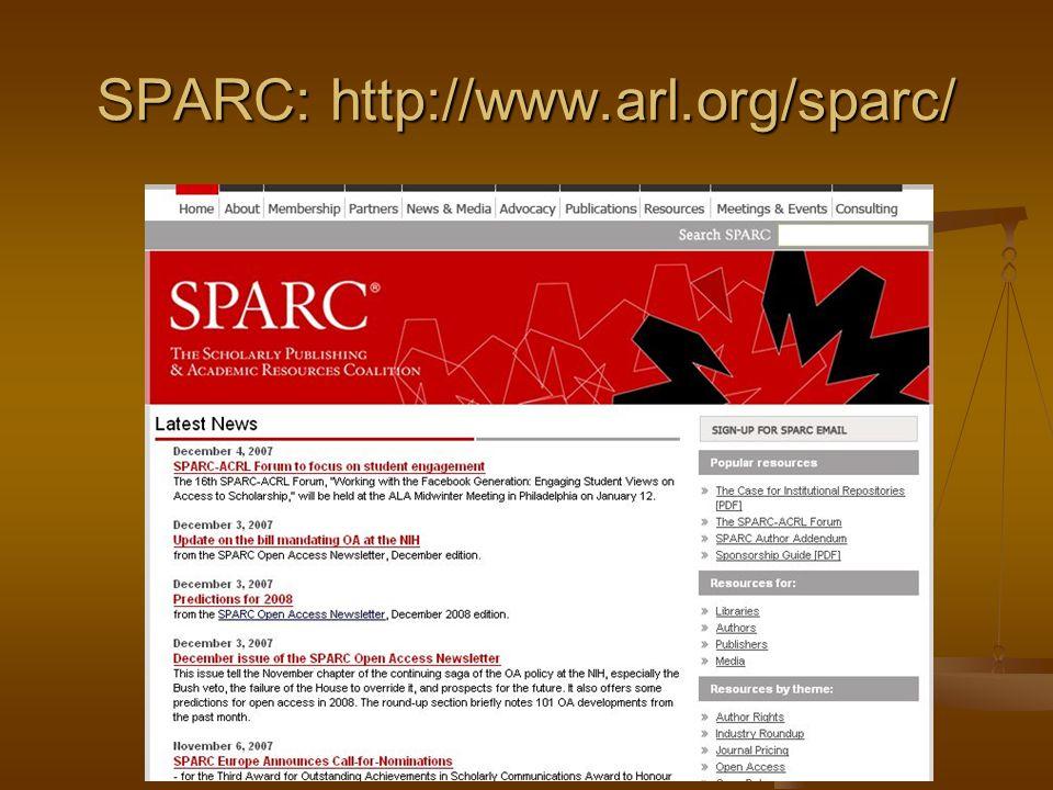 SPARC: http://www.arl.org/sparc/