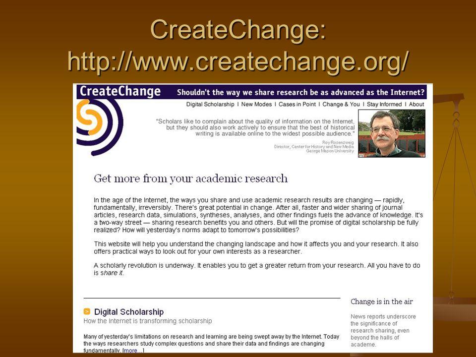 CreateChange: http://www.createchange.org/