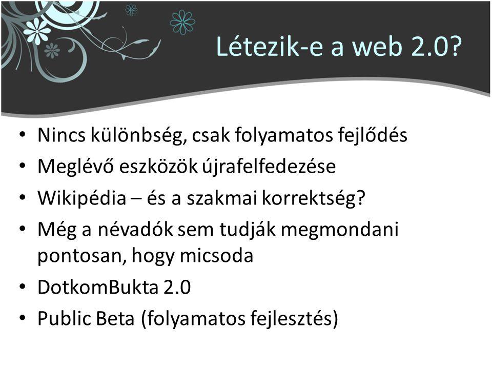 Létezik-e a web 2.0.