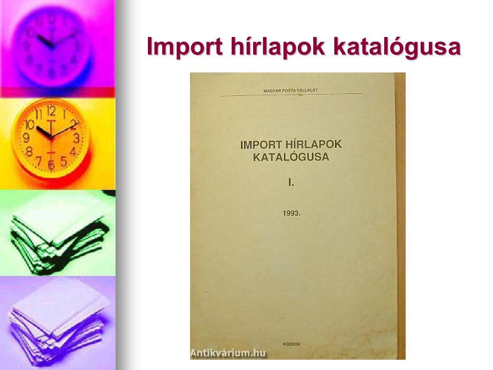 Import hírlapok katalógusa