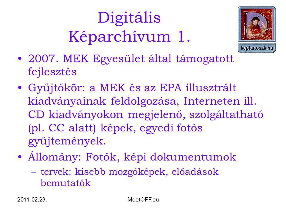 2011.02.23.MeetOFF.eu Digitális Képarchívum 1. 2007.