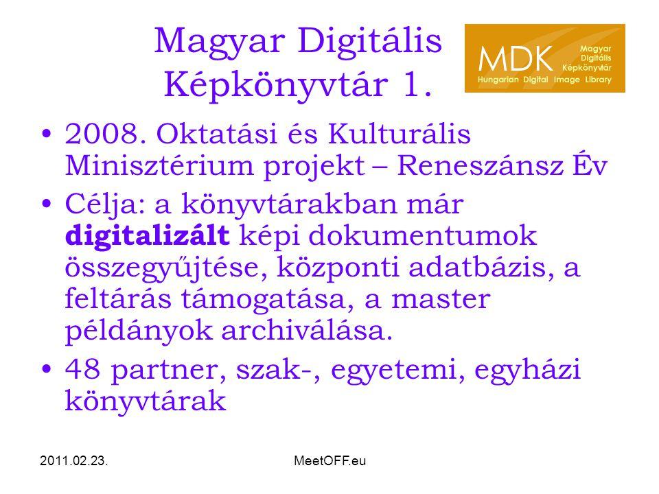 2011.02.23.MeetOFF.eu Magyar Digitális Képkönyvtár 2.