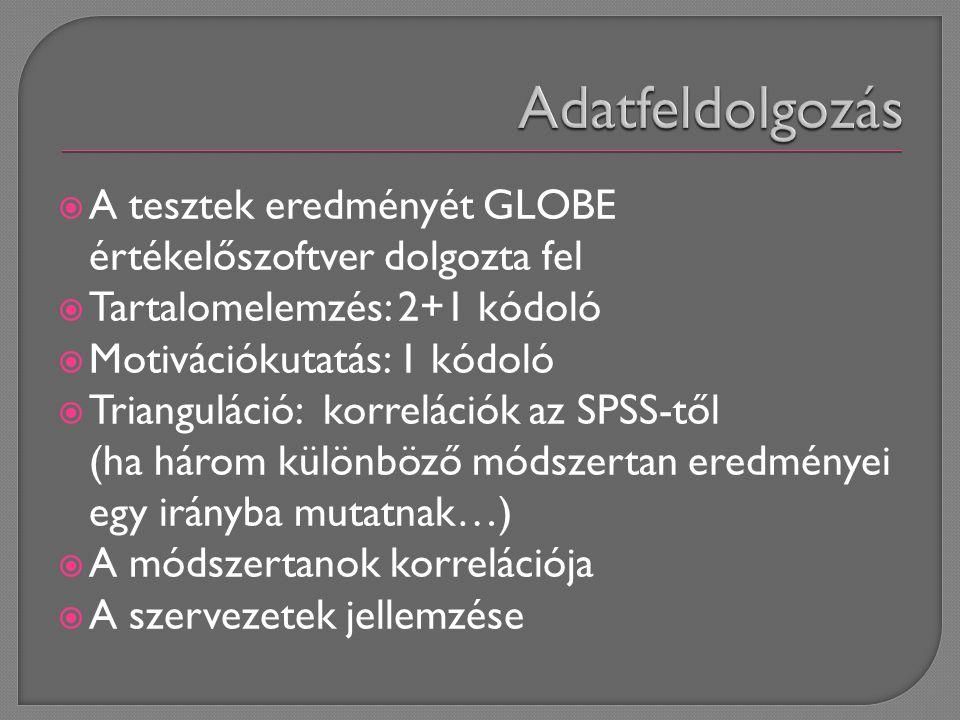 TartalomelemzésMotivációkutatás Norm.szerv. Norm.