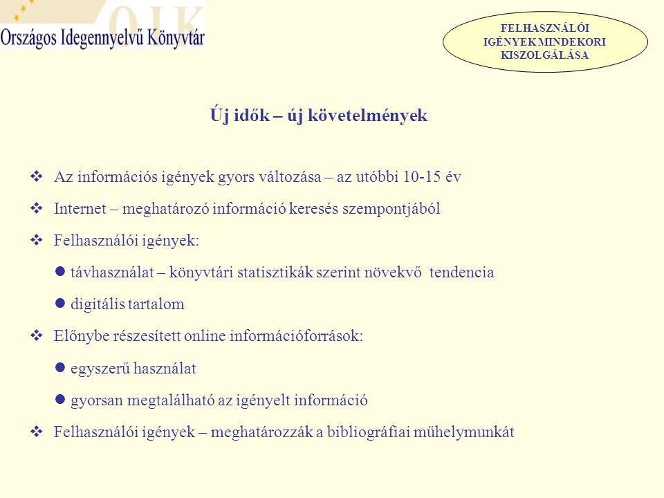 Az Országos Idegennyelvű Könyvtár bibliográfiái/adatbázisai  Nemzeti és Etnikai Kisebbségi Adatbázis A kisebbségekkel kapcsolatos kutatás, tájékozódás és tájékoztatás szolgálata Gyűjtőkör: - a magyarországi 13 nemzeti kisebbséggel kapcsolatos publikációk - a kisebbségben élő magyarságról szóló publikációk - a kisebbségi kérdéskör nemzetközi vonatkozásait tárgyaló publikációk - a migránsokkal, migráció jelenségével foglalkozó publikációk Nyelvek: - 13 hazai kisebbség anyanyelvén - magyar nyelven - nagy világnyelveken Forrásdokumentumok - lektorált folyóiratok - napilapok, hetilapok Az adatbázis közvetíti - a hazai és külföldi tudományos eredményeket - a kisebbségekkel kapcsolatos hétköznapi diskurzust, közgondolkodást BIBLIOGRÁFIAI MŰHELYMUNKA Történeti visszapillantás