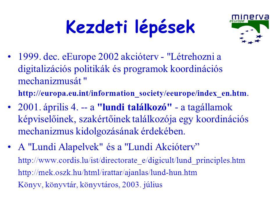 Kezdeti lépések 1999. dec.