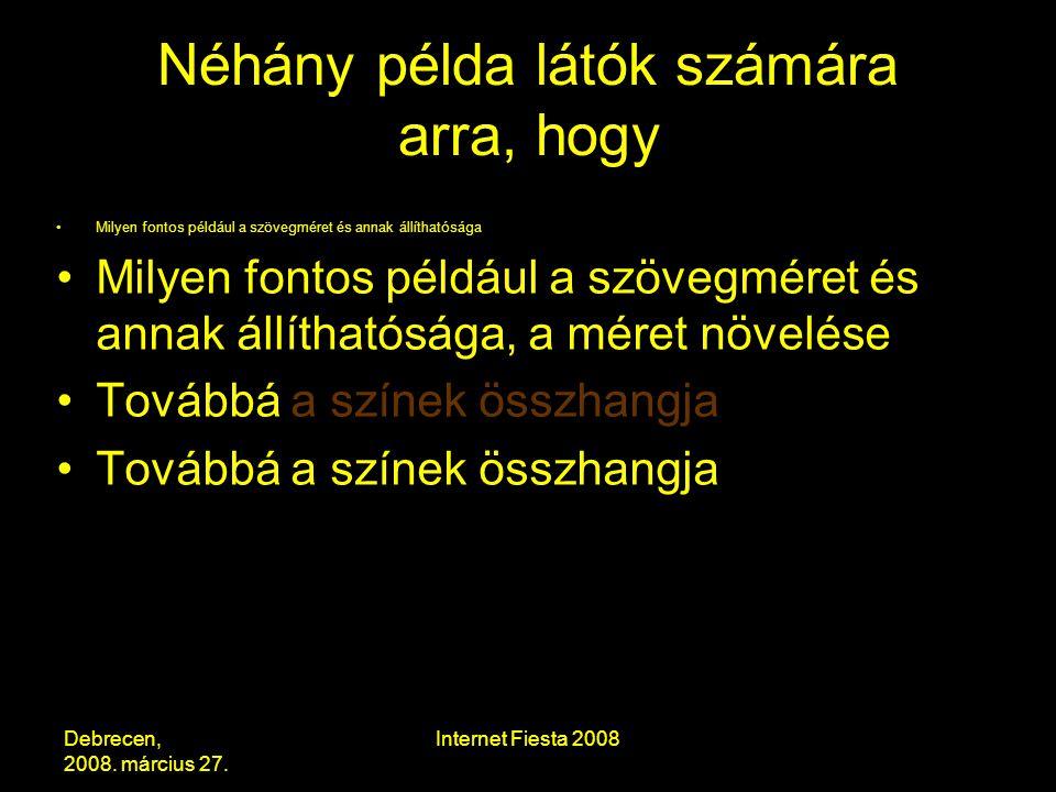 Debrecen, 2008. március 27.